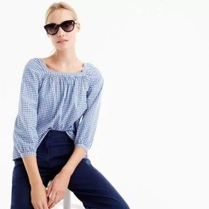 J. CREW Penny Top in Gingham Style NWT